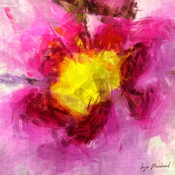 Pinkes Blumenleben Kunstwerk