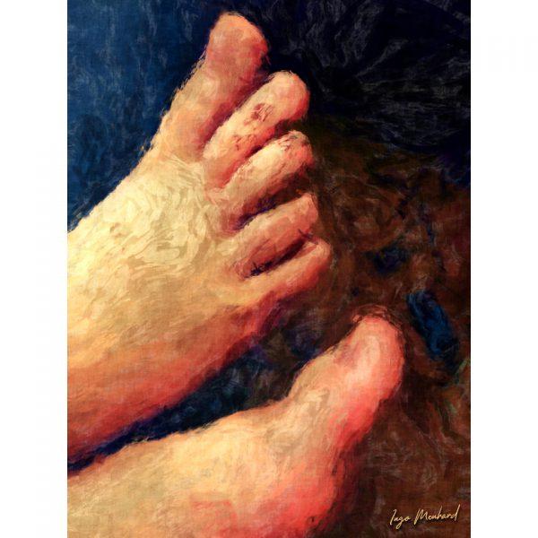 Mona Lisas Füße Kunstwerk