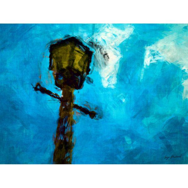 Straßenlampe Poster